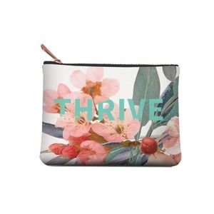 Studio Oh! Bags - Floral Thrive Medium Zippered Make-Up Pouch